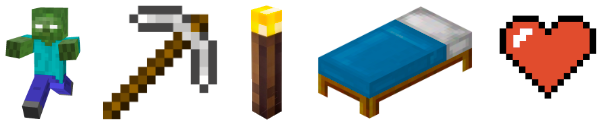 Objects commonly associated with Minecraft